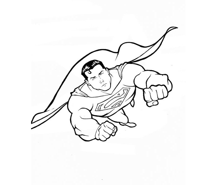 Hình tô màu siêu nhân cho bé