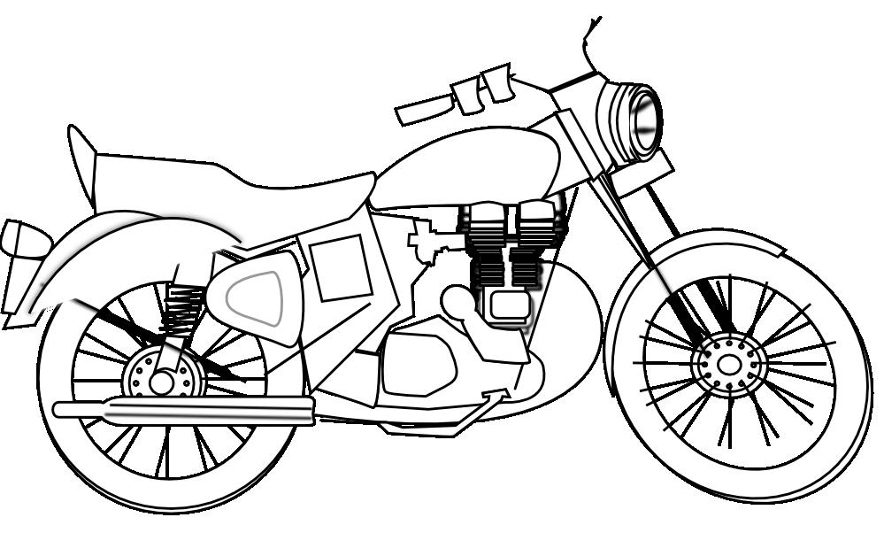 Hình tô màu xe máy cho bé
