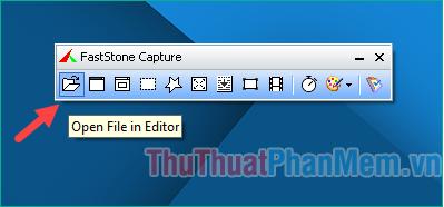 Nút Open File in Editor để mở ảnh trong giao diện chỉnh sửa