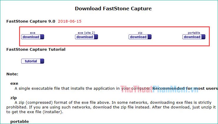 Tải phần mềm Faststone Capture