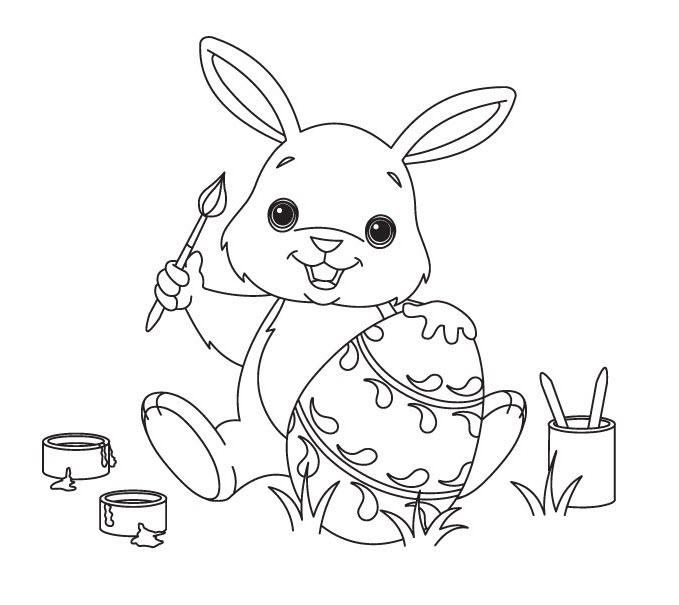Tô màu con thỏ