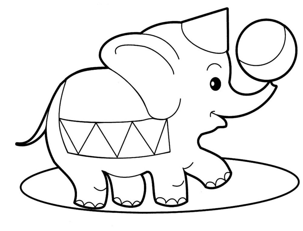 Tô màu con voi đẹp