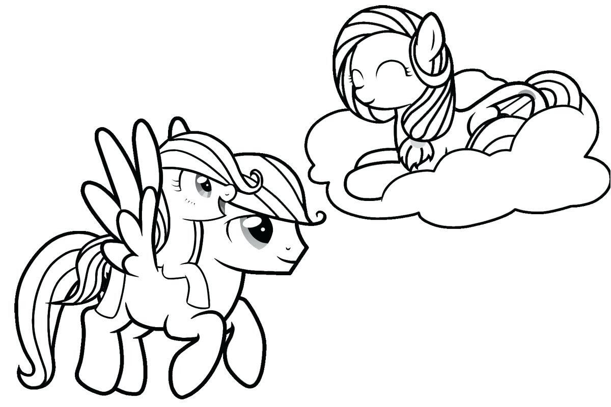 Tranh cho bé tập tô ngựa Pony