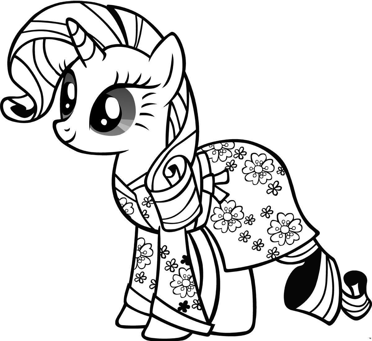 Tranh ngựa Pony cho bé tô màu