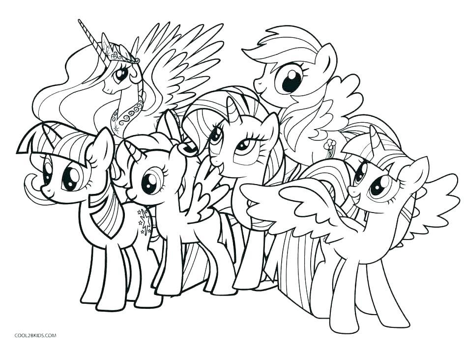 Tranh tập tô màu những chú ngựa Pony đáng yêu