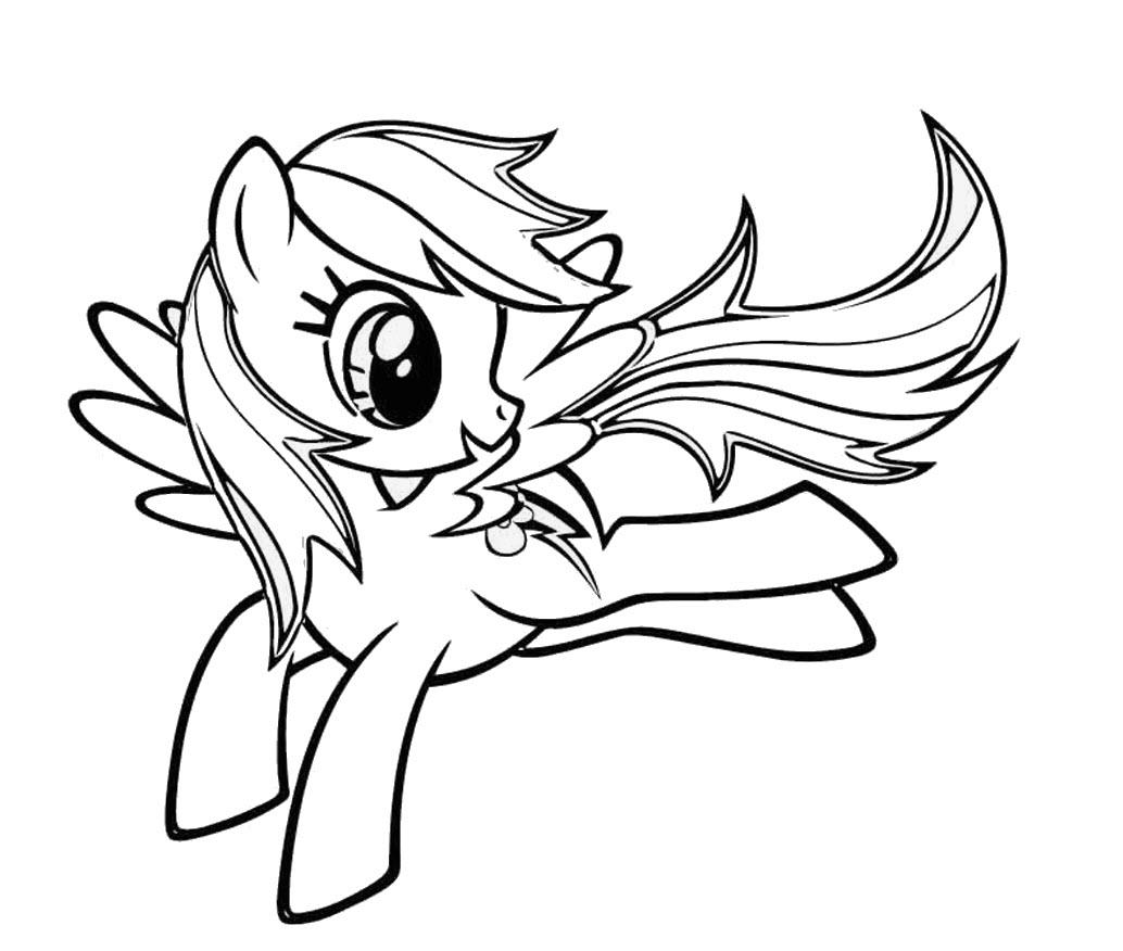 Tranh tập tô màu Pony dễ thương nhất