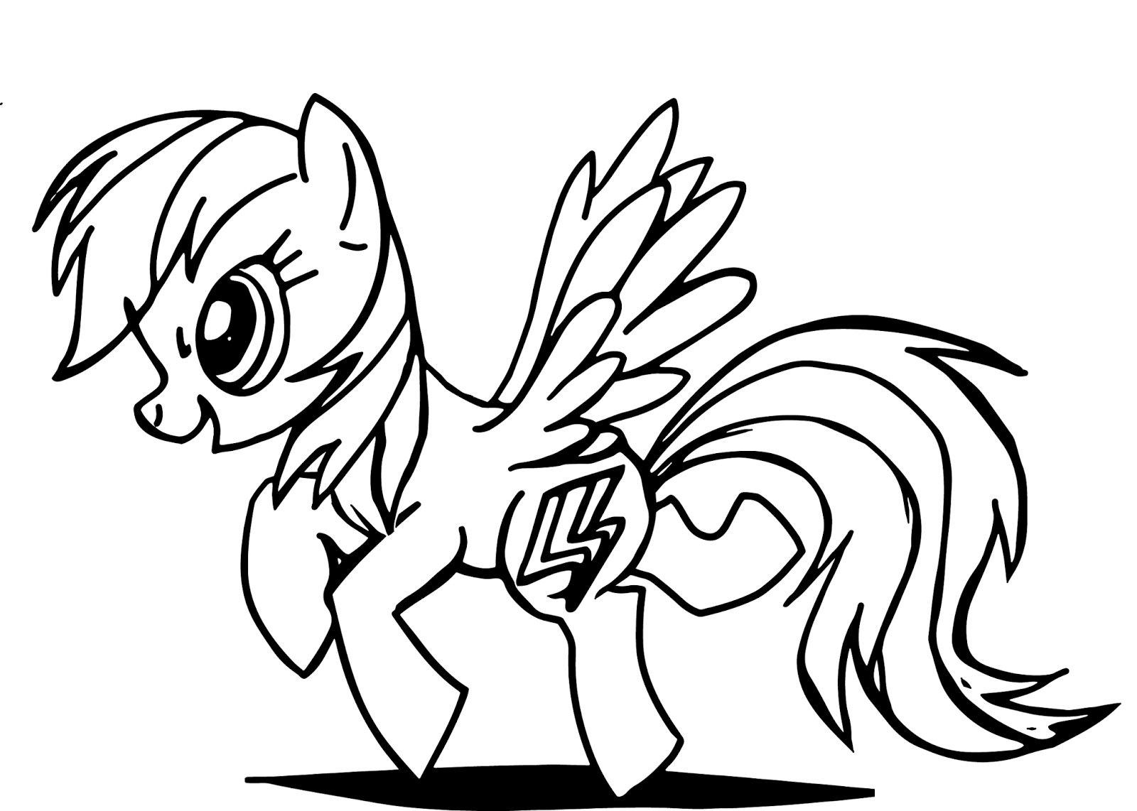 Tranh tập tô ngựa Pony đẹp cho bé