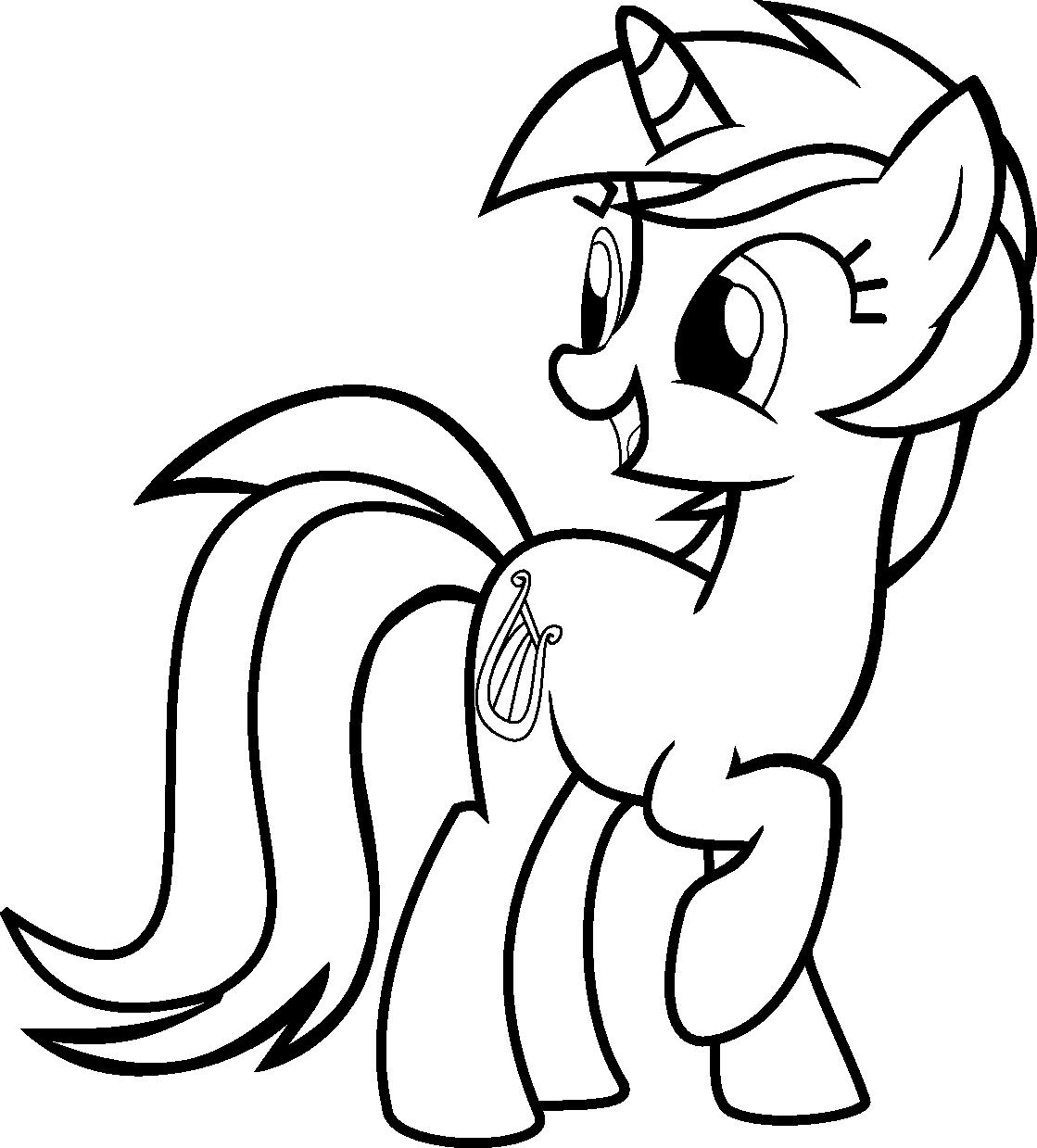 Tranh tập tô ngựa Pony đẹp