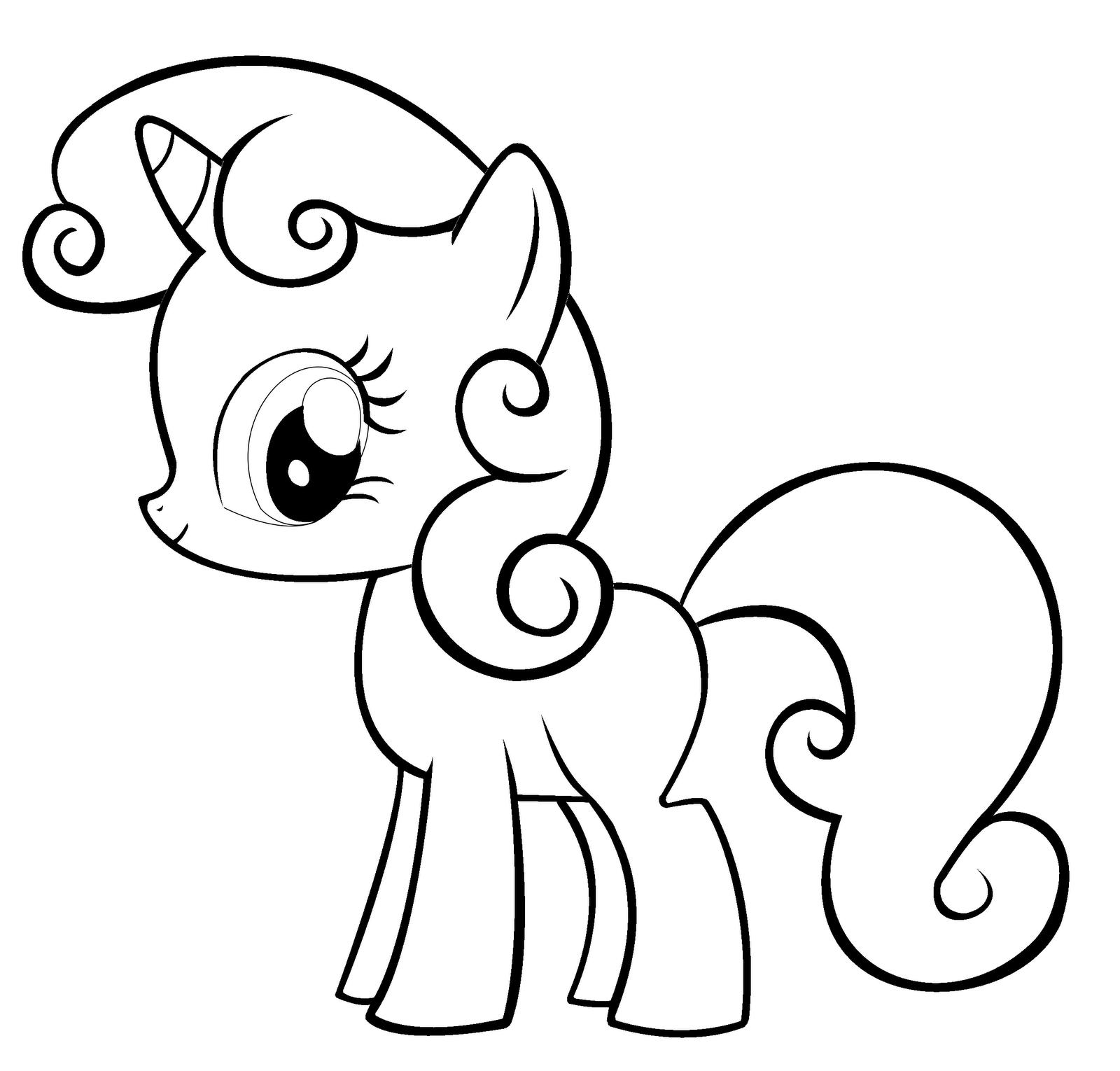 Tranh tập tô ngựa Pony