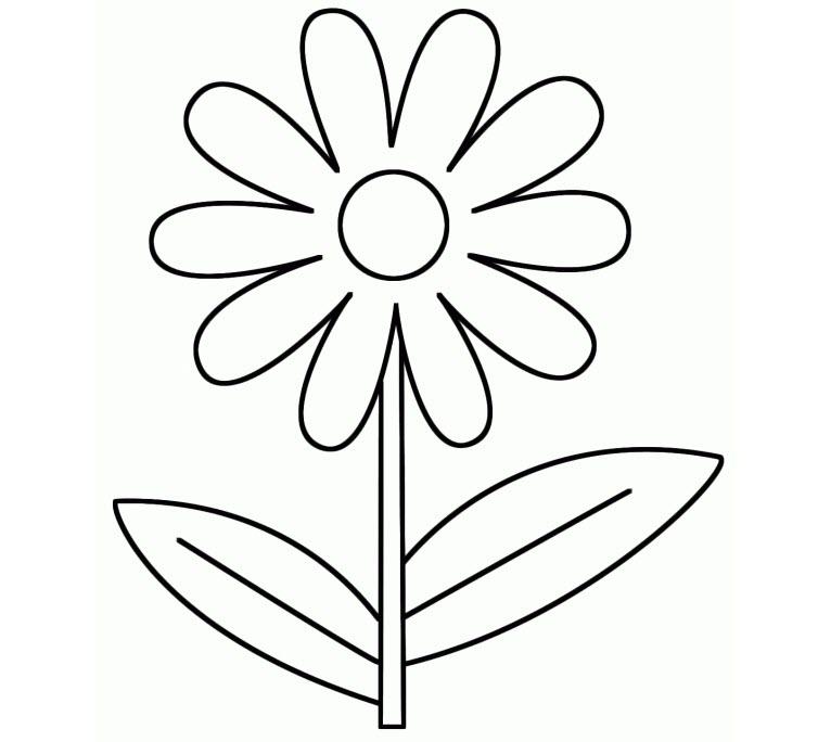 Tranh tô màu bông hoa cho bé 3 tuổi tập tô màu