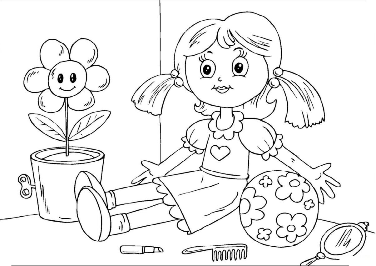 Tranh tô màu cho bé 5 tuổi tập tô