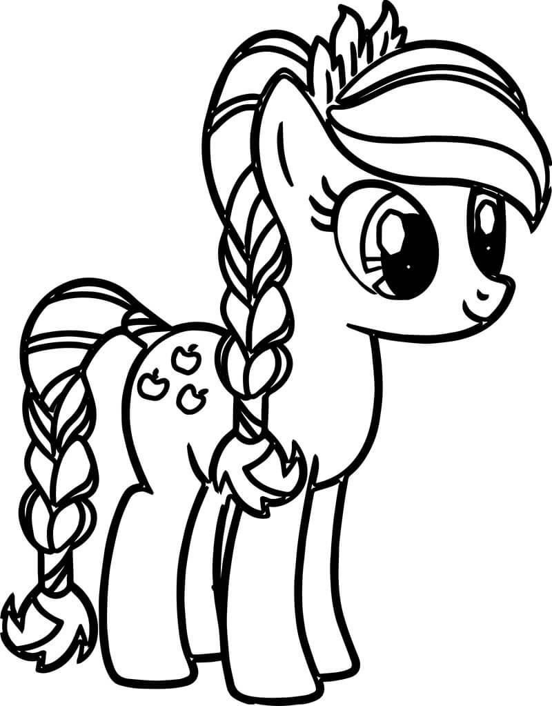 Tranh tô màu cho bé chú ngựa Pony