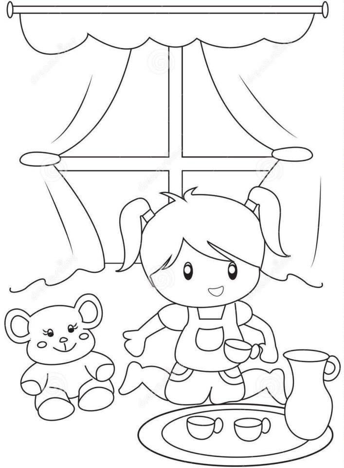 Tranh tô màu cho bé gái 5 tuổi đẹp
