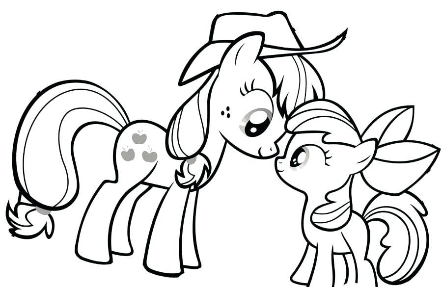 Tranh tô màu cho bé về ngựa Pony