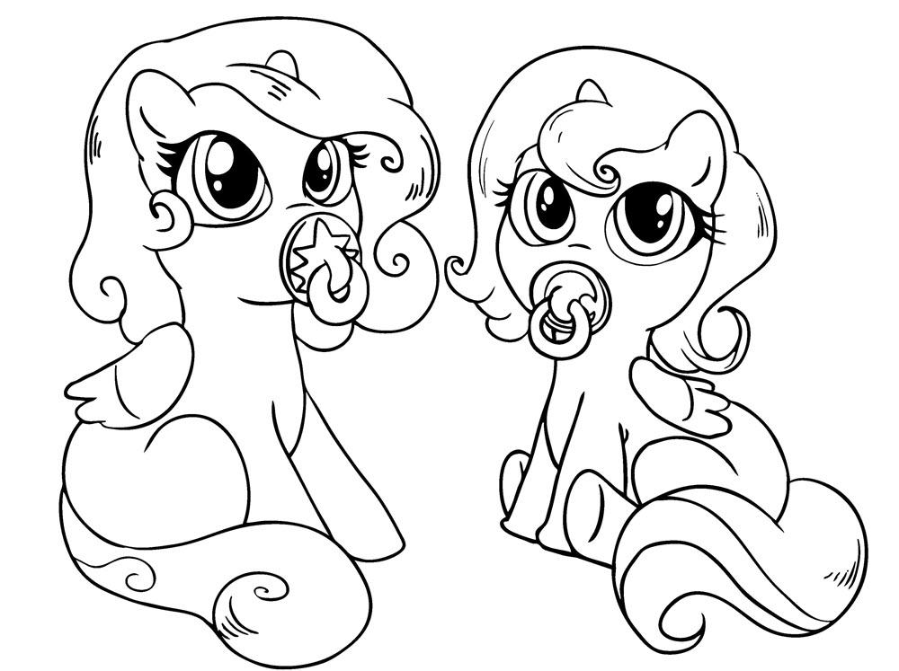 Tranh tô màu chú ngựa Pony đẹp