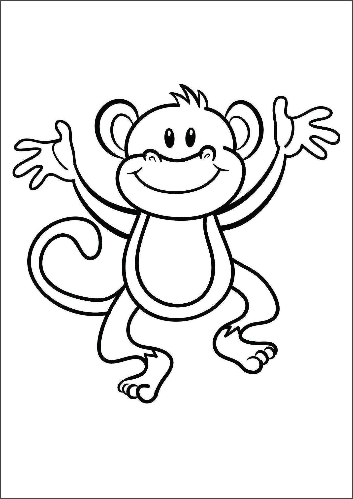 Tranh tô màu con khỉ đẹp