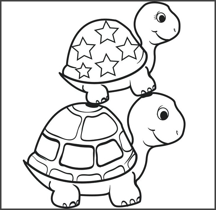 Tranh tô màu con rùa