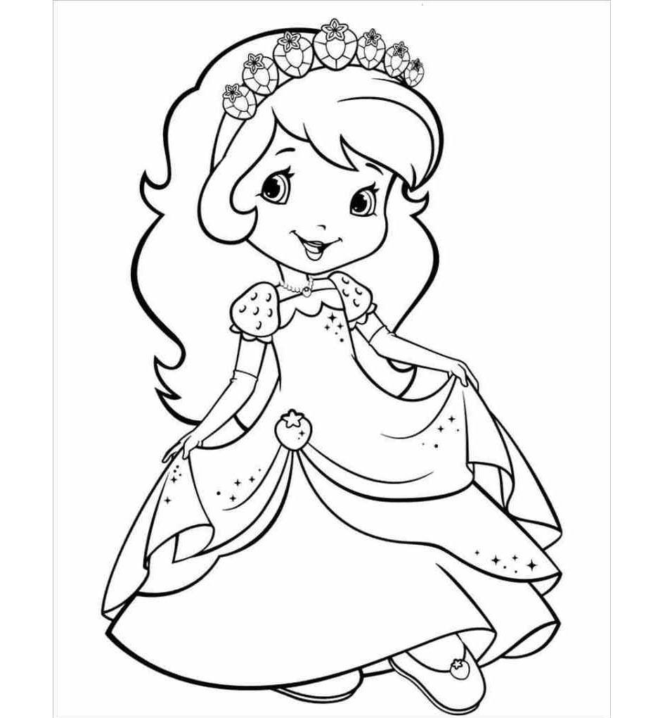 Tranh tô màu công chúa cho bé 5 tuổi