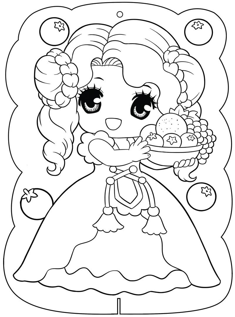Tranh tô màu công chúa cho bé