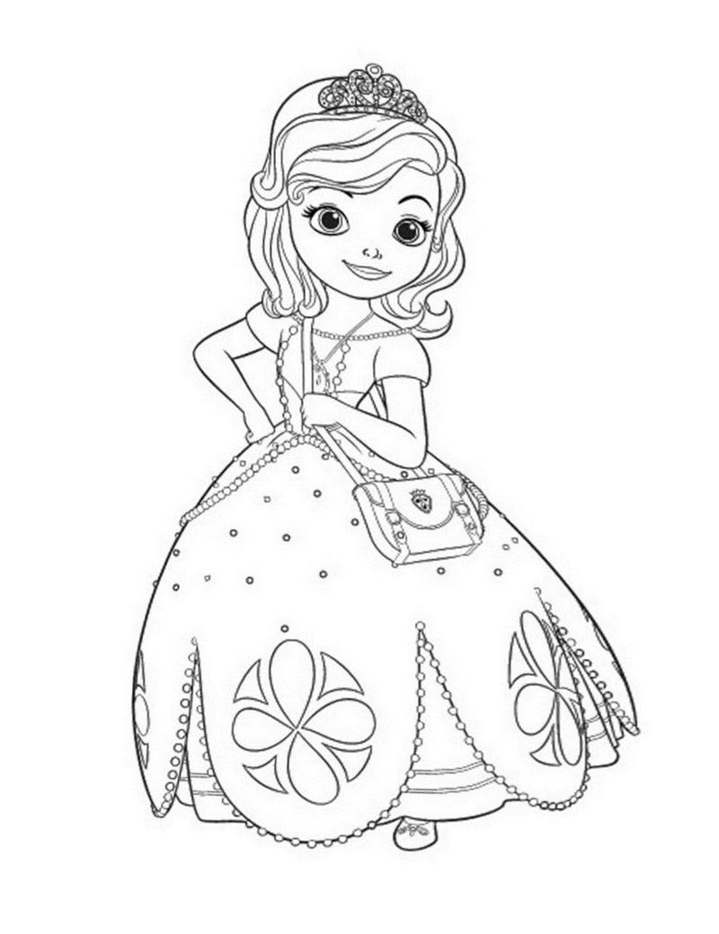 Tranh tô màu công chúa dễ thương