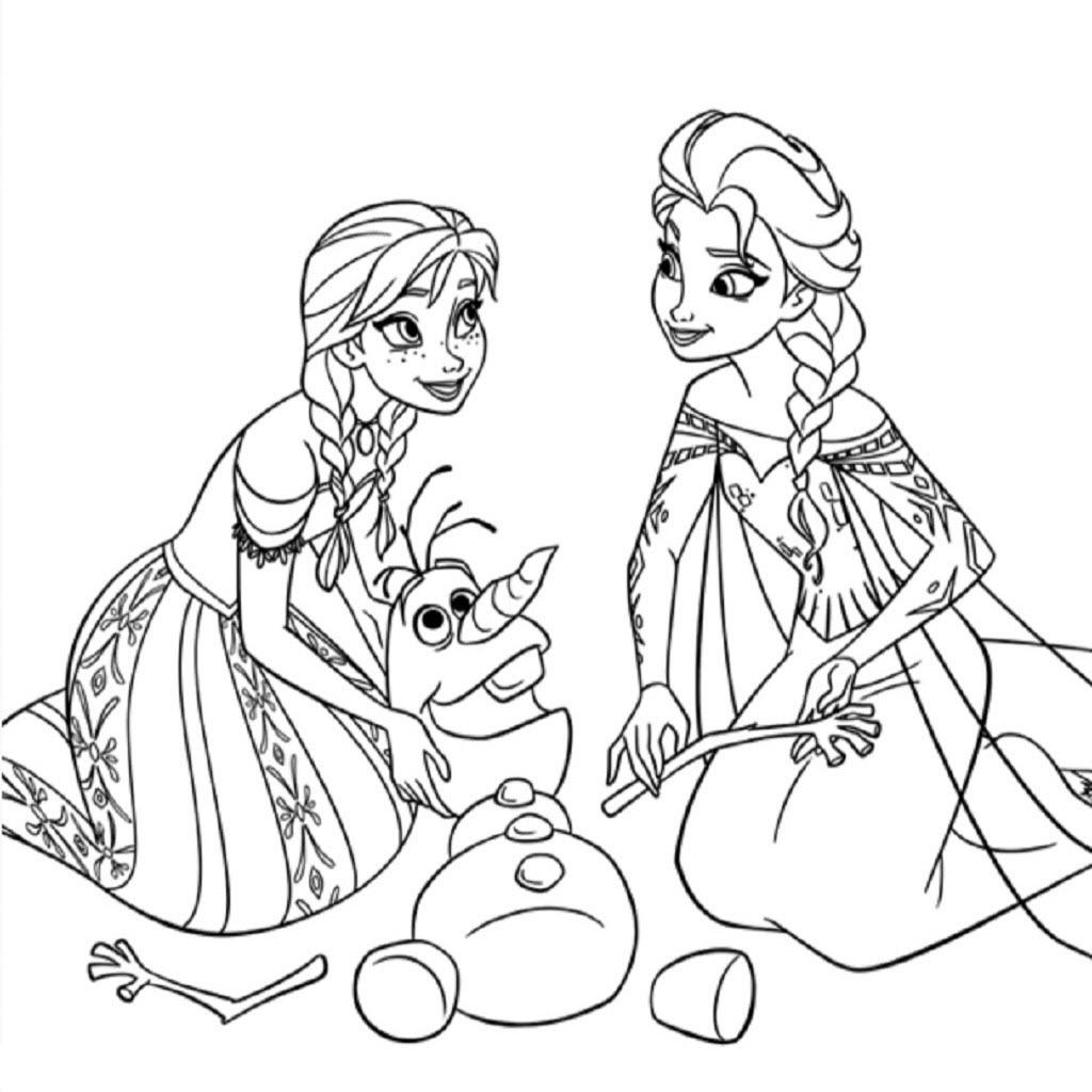 Tranh tô màu công chúa elsa cho bé gái