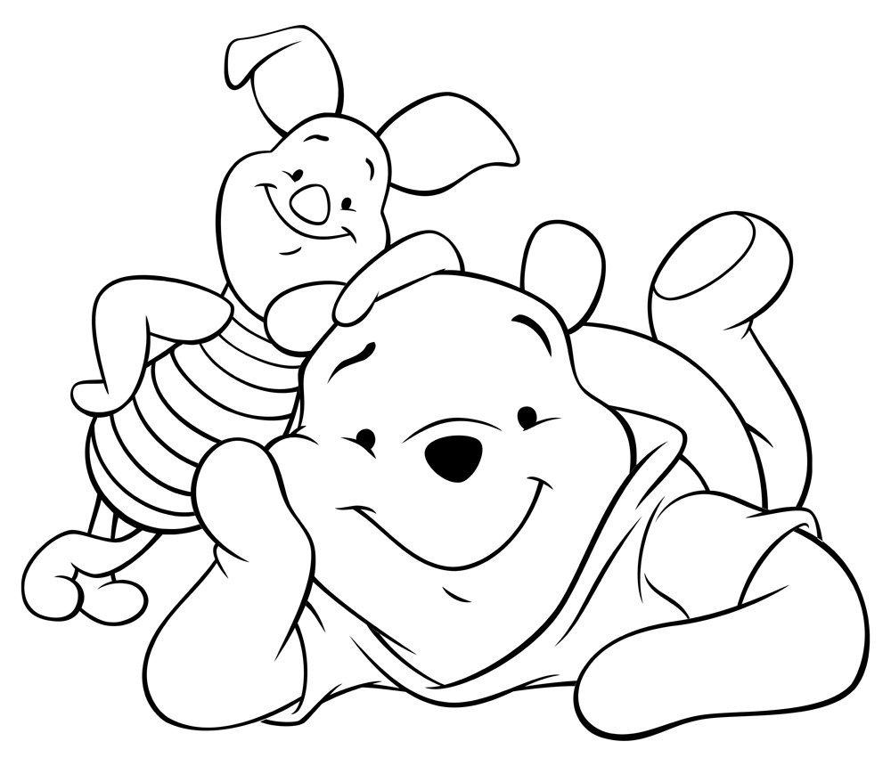 Tranh tô màu gấu pooh cho bé 5 tuổi đẹp
