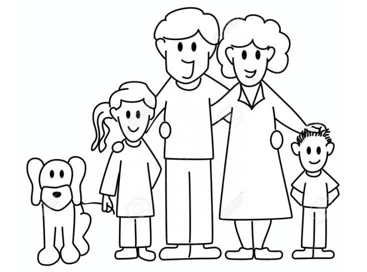 Tranh tô màu gia đình cho bé 5 tuổi