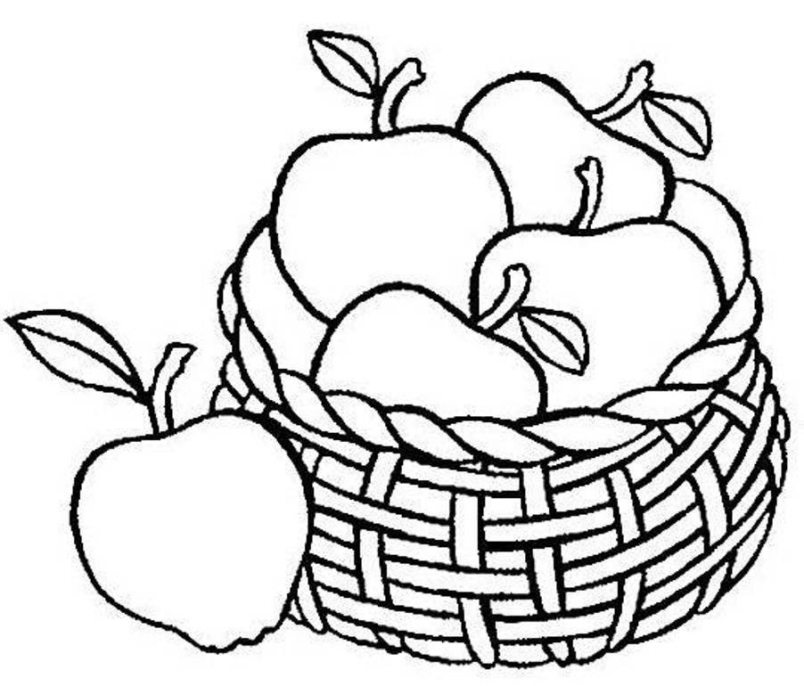 Tranh tô màu hoa quả cho bé 5 tuổi