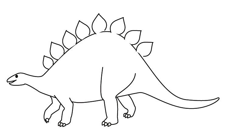 Tranh tô màu khủng long cho bé 3 tuổi