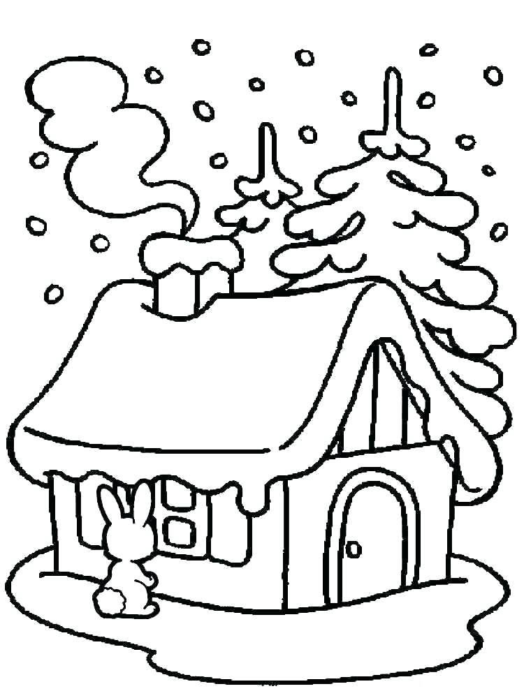 Tranh tô màu ngôi nhà đẹp cho bé 5 tuổi