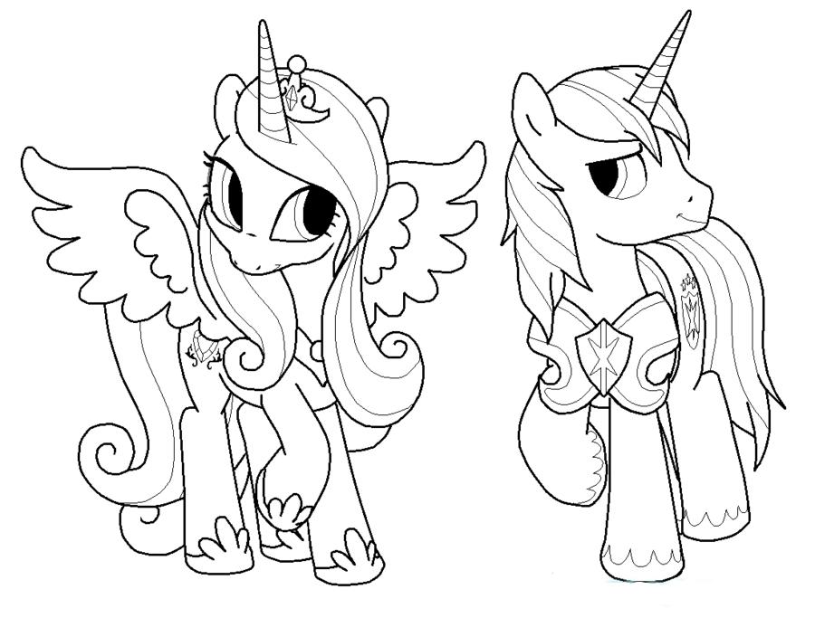 Tranh tô màu ngựa Pony cho bé 5 tuổi