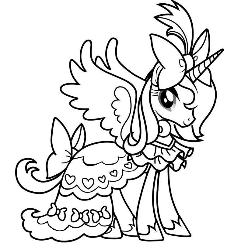 Tranh tô màu ngựa Pony cho bé đẹp
