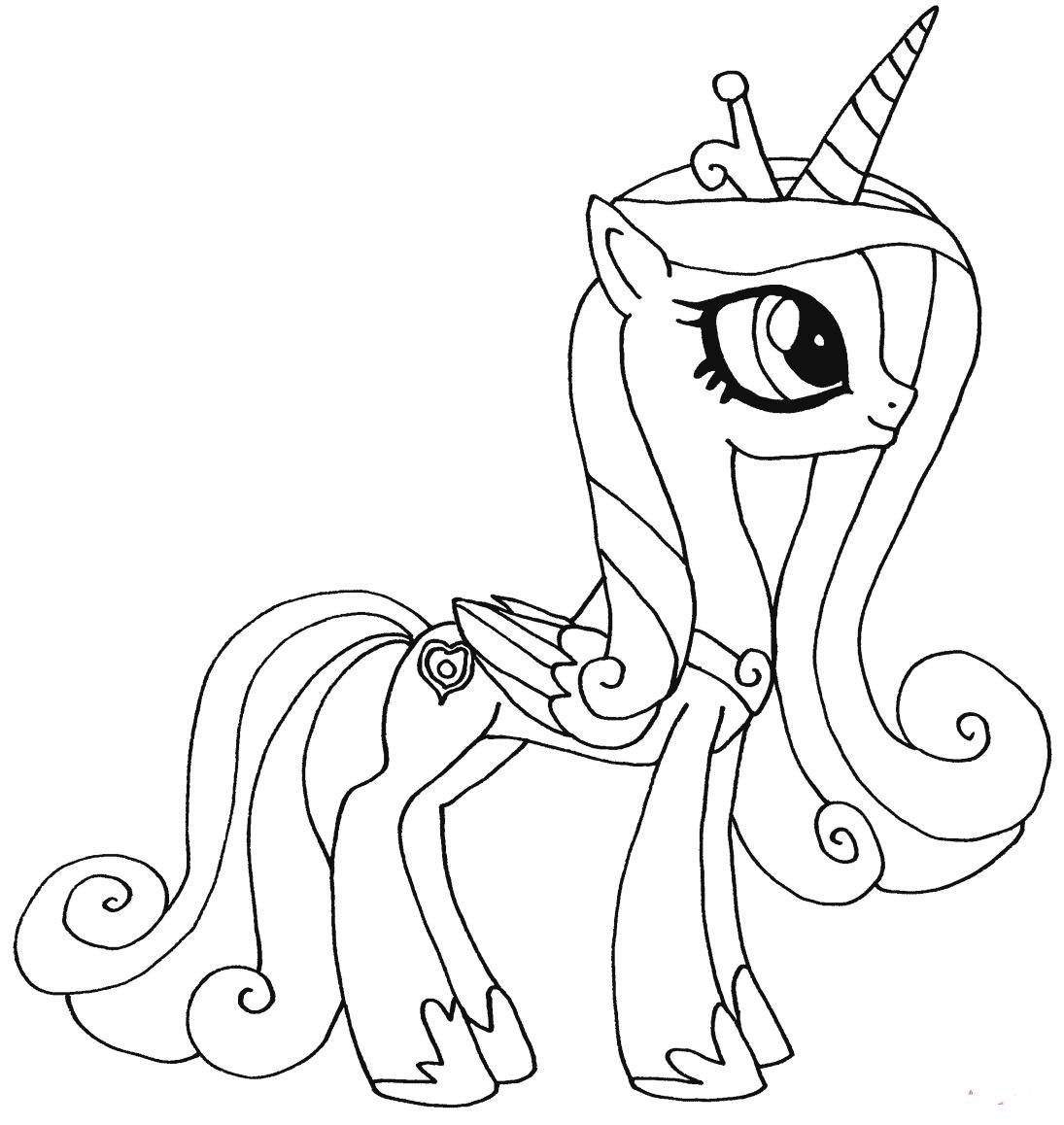 Tranh tô màu ngựa Pony cho bé tập tô
