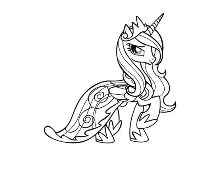 Tranh tô màu ngựa Pony cho bé tô màu