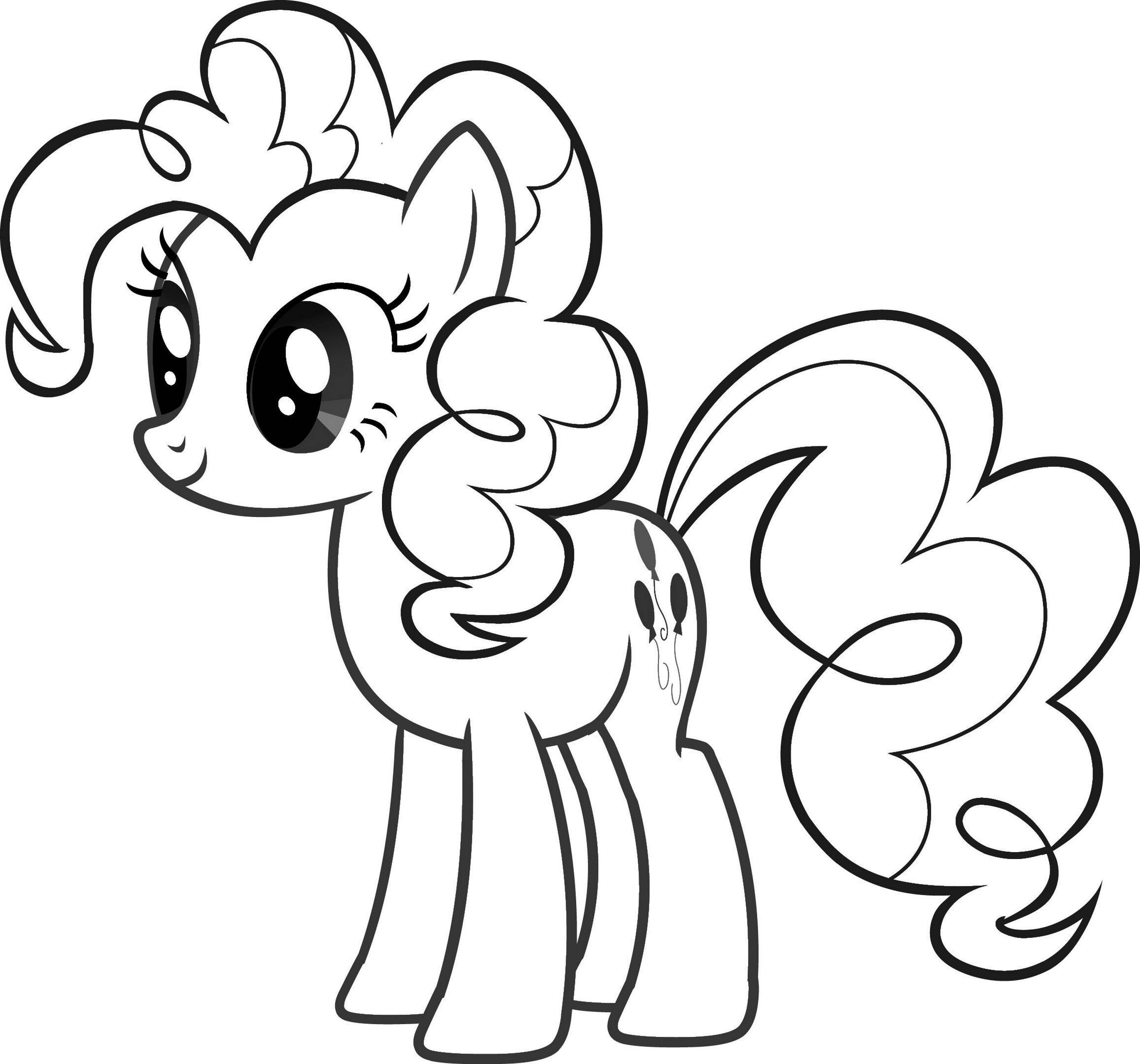 Tranh tô màu ngựa Pony cho bé