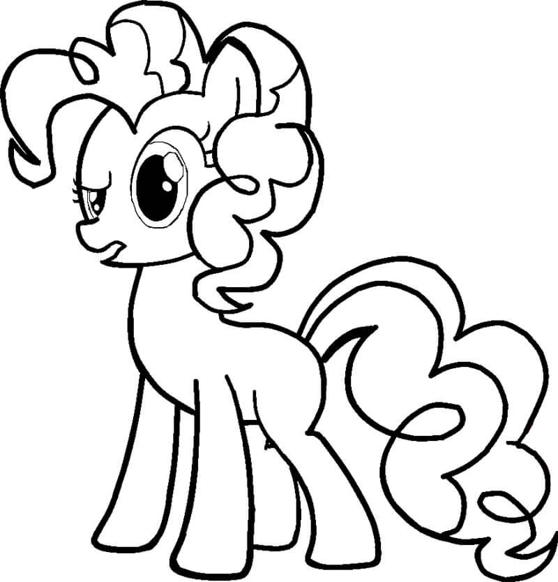 Tranh tô màu ngựa Pony đáng yêu cho bé tập tô