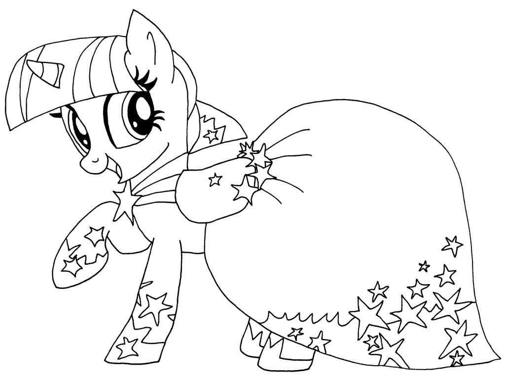 Tranh tô màu ngựa Pony dễ thương