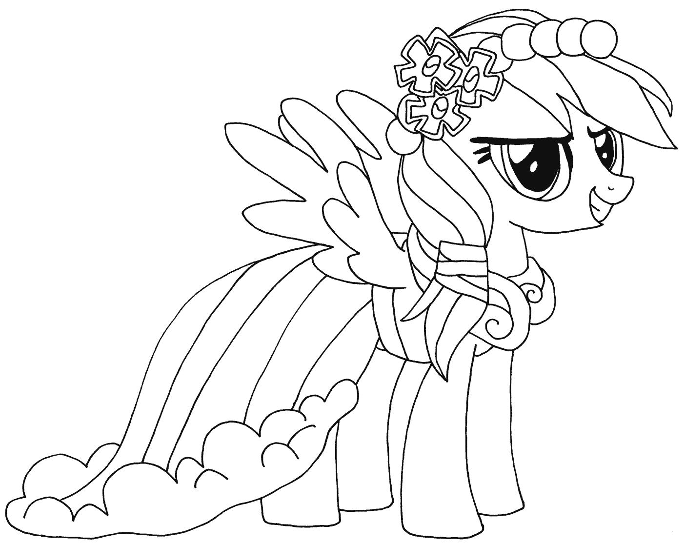 Tranh tô màu ngựa Pony xinh xắn