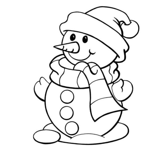 Tranh tô màu người tuyết đẹp cho bé gái