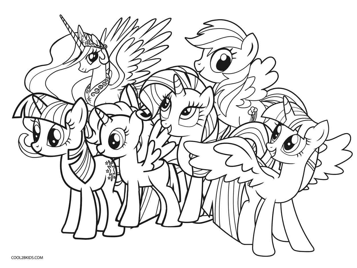 Tranh tô màu những chú ngựa Pony dễ thương