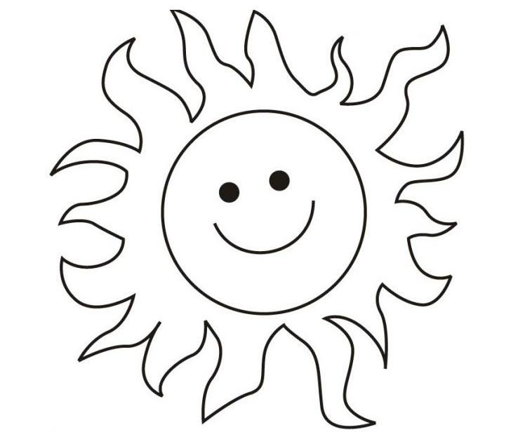 Tranh tô màu ông mặt trời cho bé 3 tuổi