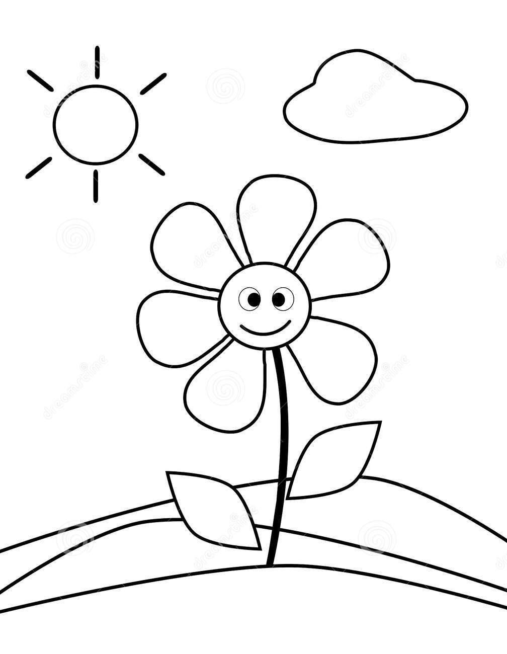 Tranh tô màu phong cảnh đơn giản cho bé 3 tuổi