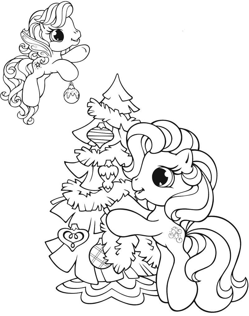 Tranh tô màu Pony cho bé