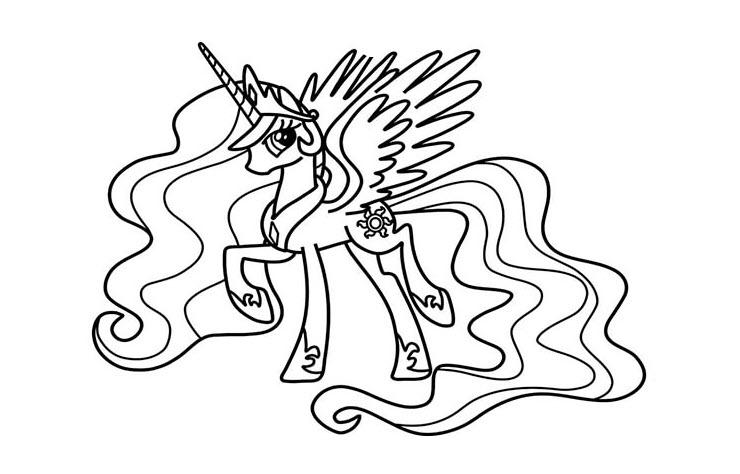 Tranh tô màu Pony cute