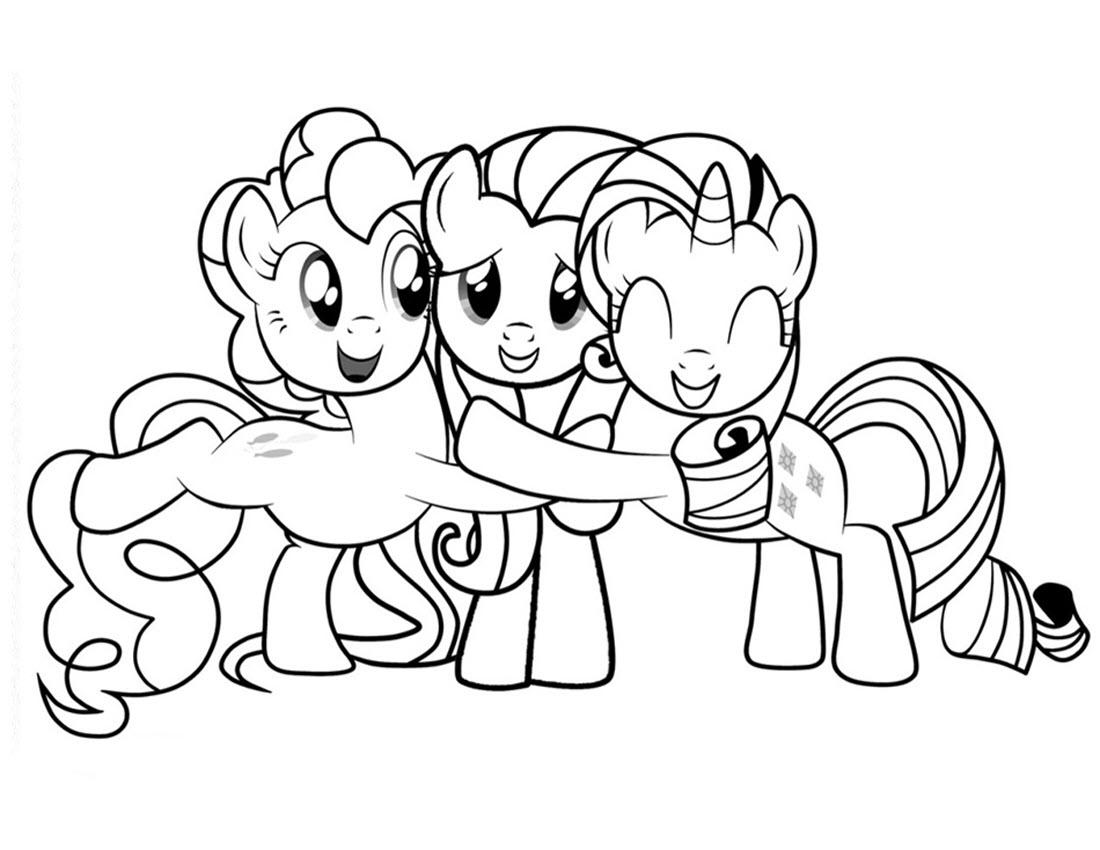 Tranh tô màu Pony đáng yêu