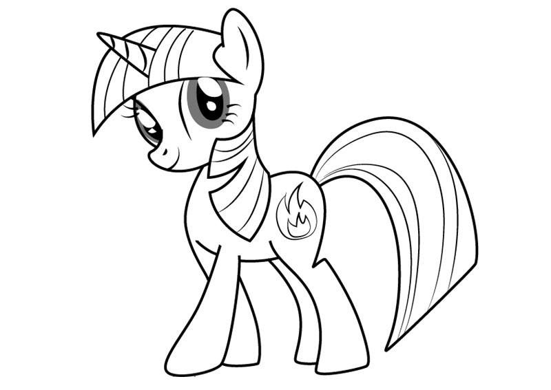 Tranh tô màu Pony dễ thương
