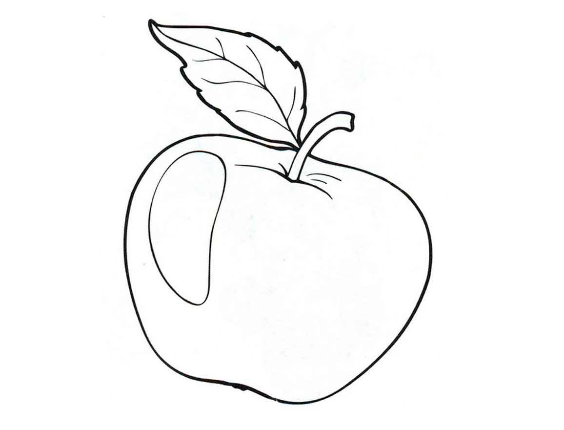 Tranh tô màu quả táo cho bé 3 tuổi