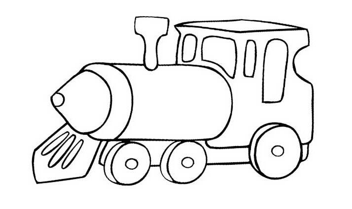 Tranh tô màu tàu hỏa cho bé 5 tuổi