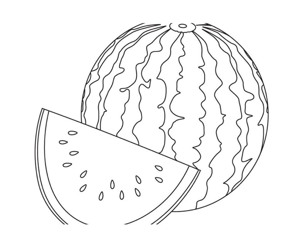 Tranh tô màu trái cây cho bé