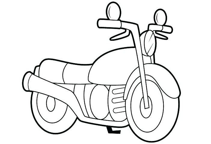 Tranh tô màu xe máy cho bé trai 5 tuổi